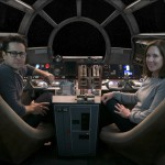Star Wars: The Force Awakens  L to R: Director/Producer/Screenwriter J.J. Abrams and Producer Kathleen Kennedy  Ph: David James  ©Lucasfilm 2015